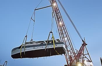 No marina crane needed